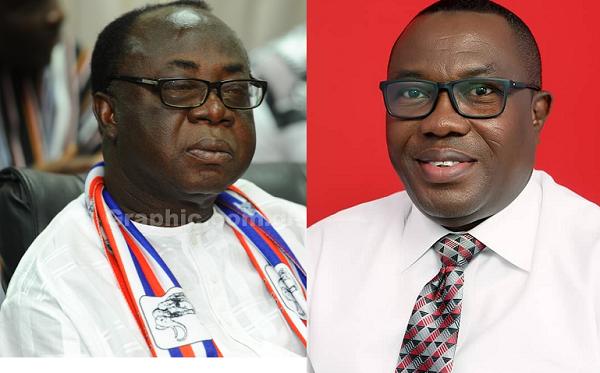 Chairman of NPP, Freddie Blay (left) and Chairman of the NDC, Samuel Ofosu-Ampofo