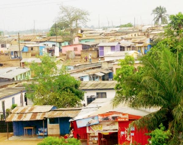 A settlement at the Buduburam Camp