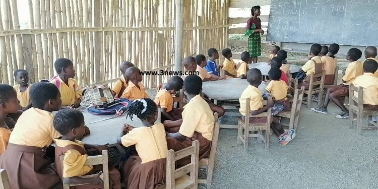 KG pupils, teachers battle with reptiles due to bamboo school structure