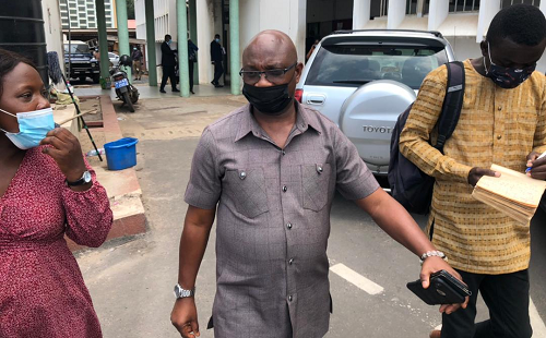 Mr Bright Wereko - Brobbey, Deputy Minister of Employment and Labour Relations , after the court sitting