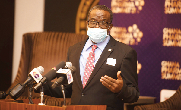 Mr Benjamin Botwe — President of the Pharmaceutical Society of Ghana, adressing the gathering. Picture: Emmanuel Quaye