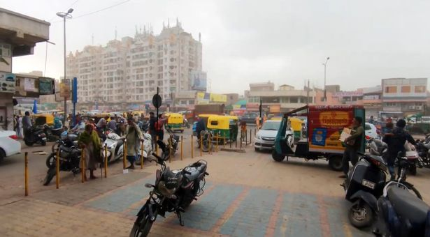 Salman was having a hotel sex and drugs romp when he decided to apply the ultra-strong adhesive to his genitals (Pictured: Juhapura in Ahmedabad in India, where Salman and his partner lived)